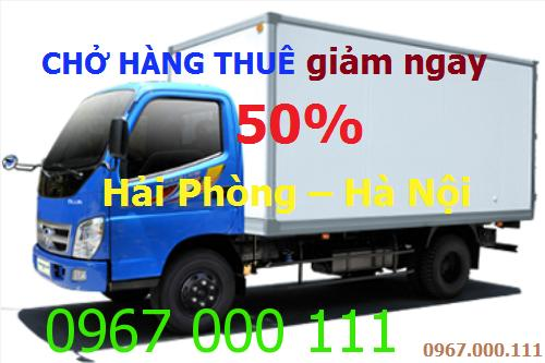 Giảm ngay 50% cước xe chở hàng từ Hải Phòng về Hà Nội