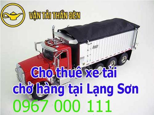 Cho thuê xe tải chở hàng tại Lạng Sơn