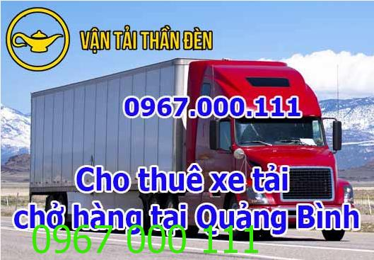 Dịch vụ cho thuê xe tải chở hàng tại Quảng Bình