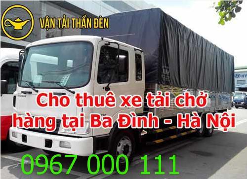 Dịch vụ cho thuê xe tải chở hàng tại Ba Đình - Hà Nội
